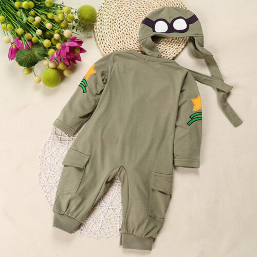 Kids Baby Boys Girl Infant Airplane Romper Jumpsuit Bodysuit Outfit Long Sleeve
