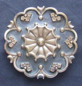 Ancienne grosse boucle de ceinture en bronze - années 60 - Peace and Love