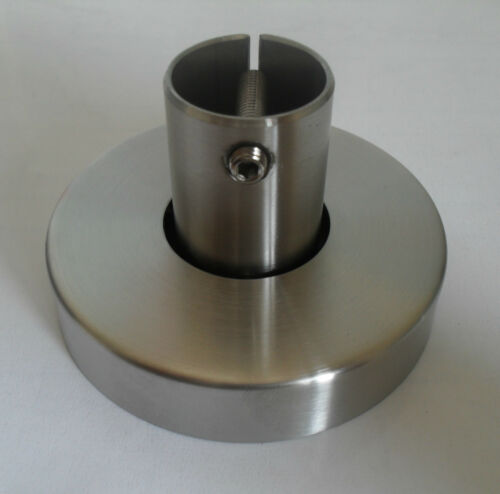 Edelstahl Bodenanker für Rund Geländerpfosten 42,4mm V2A Pfostenhalter VA Steher