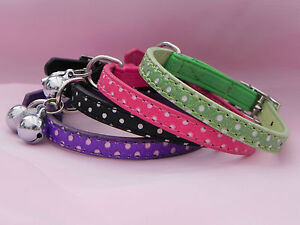 Polka Dot Pet Chien Chat Collier PU Cuir Bling Strass Boucle-afficher le titre d`origine lmFHC5ci-07183403-555906822