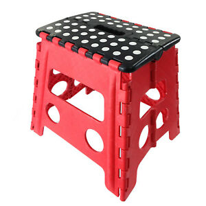 Easy Carry Folding Step Stool Seat With Anti Slip