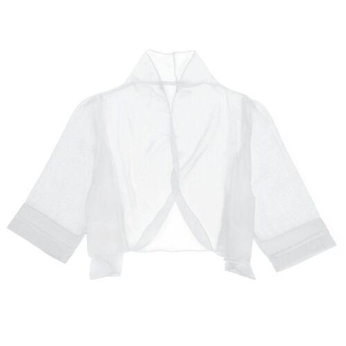 US Women See Through Shrug Bolero Half Sleeve Blouse Crop Cocktail Party Cover