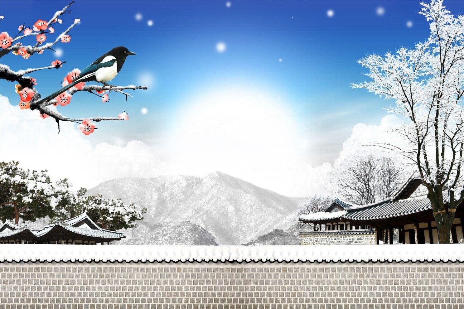 3D Himmel Elster Schnee6 Tapete Tapeten Mauer Foto Familie Tapete Wandgemälde DE