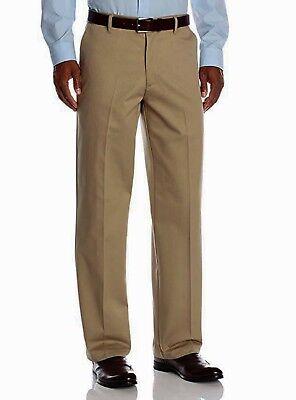 Classic Fit Ultimate Khakis by Wrangler Flat Front Khaki Pants for Men