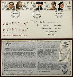 Maritime-Heritage-Royal-Mail-First-Day-Cover-1982-Insert