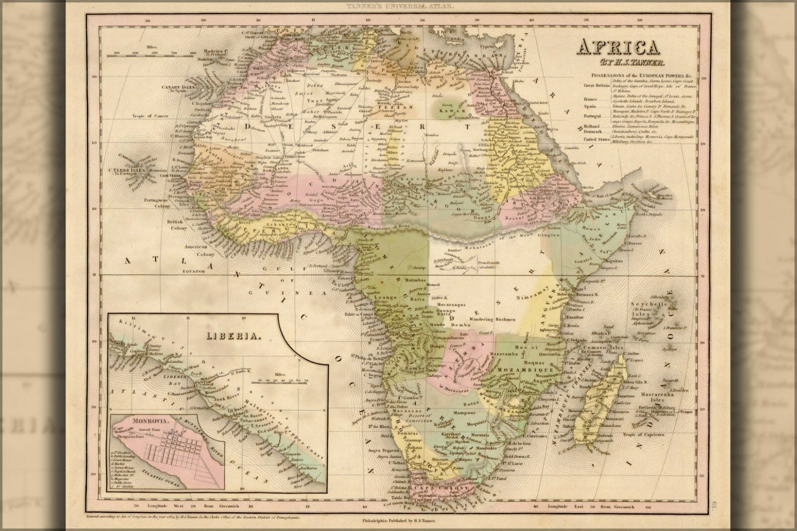 Plakat, Viele Größen; Map Of Africa
