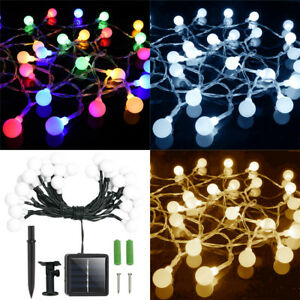 solar lichterkette kugeln 30 led licht weihnachten deko. Black Bedroom Furniture Sets. Home Design Ideas