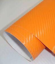 3D Folie Carbonfolie Klebefolie ORANGE Carbon f. Auto, laptop, Handy 10 x 100cm