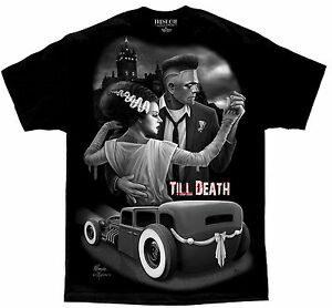 Till-Death-Rockabilly-Hot-Rod-Lowrider-Pinup-Tattoo-David-Gonzales-DGA-T-Shirt