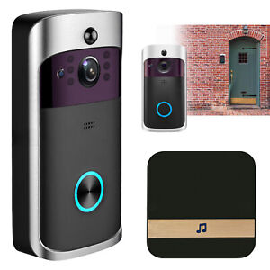 Smart Video Doorbell Wifi Security Camera 720p Support Two