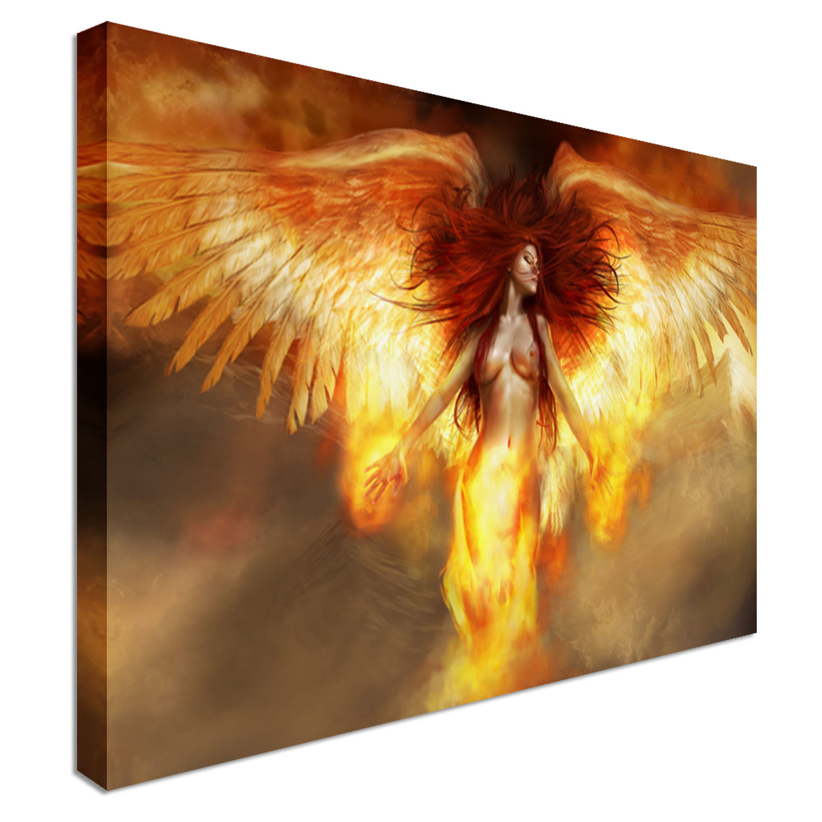 Abstract Fire Angel Canvas Art Cheap Wall Print Home Interior