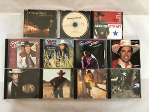 GEORGE STRAIT 11 CD LOT: HONKYTONKVILLE-GREATEST HITS-EASY COME EASY GO AND MORE
