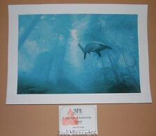Josh Keyes Phantom Hammerhead Shark Print Poster Signed Numbered COA Art