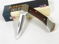 Schrade Uncle Henry Rosewood Brown Bear Lockback Folding Pocket Knife Lb3