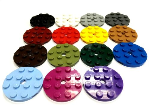 Select Colour Pack Size LEGO 60474 4X4 Round Plate FREE P/&P!
