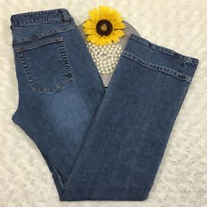 J-Crew-Womens-Bootcut-Jeans-Size-6-Stretch-Blue-Denim-cr1051
