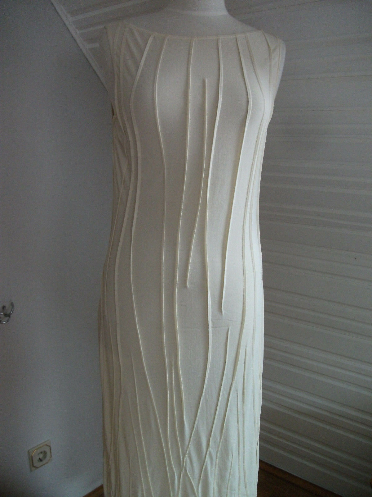 Orig. ZAPA - elegantes bequemes Sommerkleid mit Unterkleid  champagner Gr 38 NEU