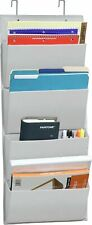4 Pockets Wall Mountover Door Office Supplies File Document Organizer Holder