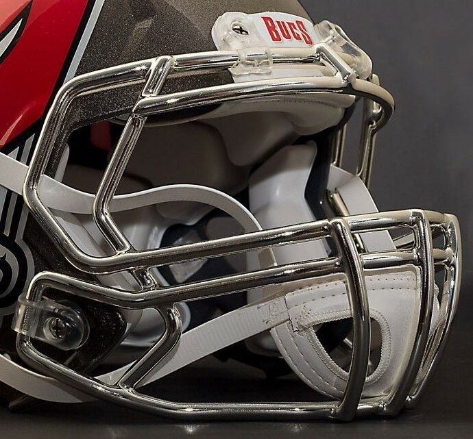 TAMPA BAY BUCCANEERS Riddell Speed S2BD Football Helmet Facemask Faceguard