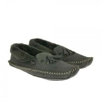 ce465876a20cce CLARKS MEN S KITE MOCC MOCCASIN SLIPPERS GREY SUEDE SIZE 7 G