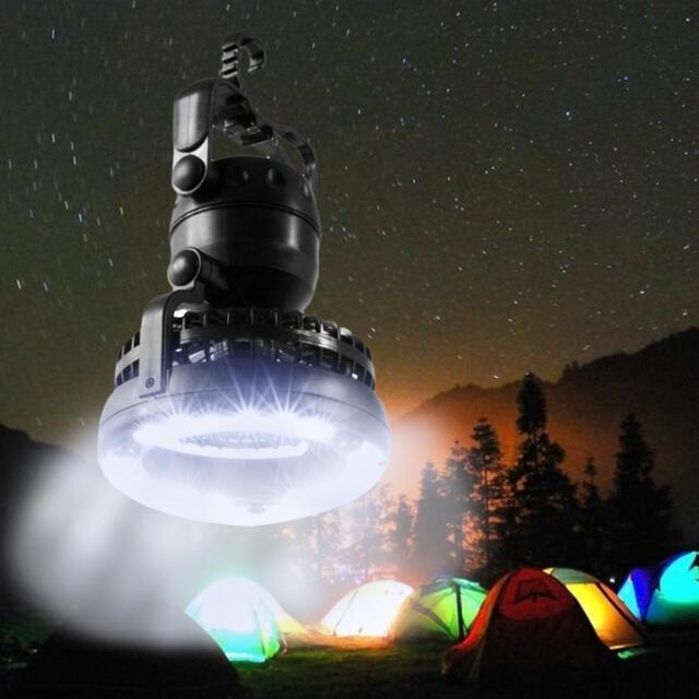 NEW Tent Light Fan Camping LED Lantern Portable Outdoor Hiking Gear Equipment PE