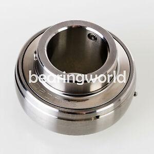 Steel Set screw Lock UC206 Axle Insert Mounted Bearing Metric 2 Bolt 30mm Inside Diameter