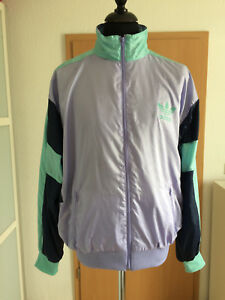 Details zu Adidas Vintage Trainingsjacke Jacke Hipster D9 Gr. L XL Retro Ballonseide Top!