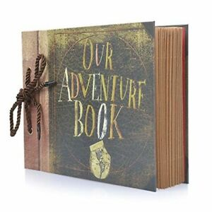 Details about Our Adventure Book Pixar Up Handmade DIY Family Scrapbook  Photo Album Retro 40pg