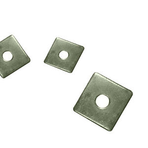 A2 Stainless Steel - Square Plate Washers M10 (10mm Internal Diameter)