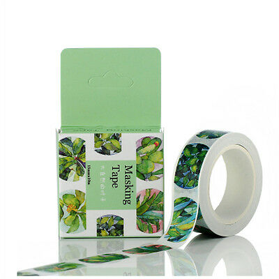 1pcs 15mmx10m Washi Tape DIY Scrapbooking Sticker Masking Tape,Leaf!