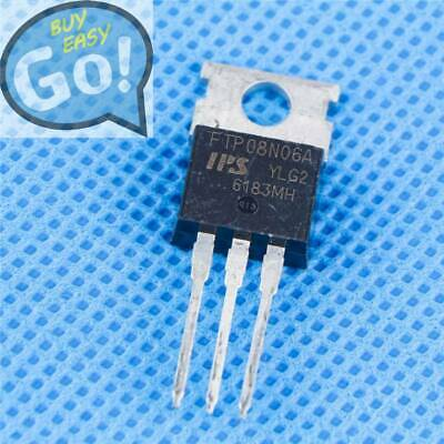 10pcs FTP08N06A N Channel TO-220 MOSFET Transistors