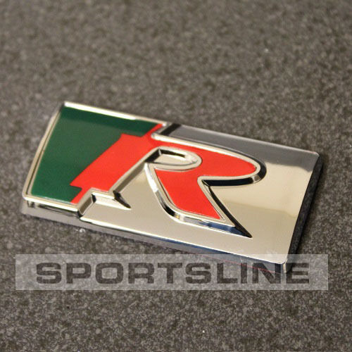 R Sport Badge Emblem Sticker Logo Rear Boot Back Tailgate Wing Side Fender T41