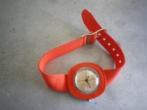 Montre ancienne mécanique orange Kelton vintage, watch