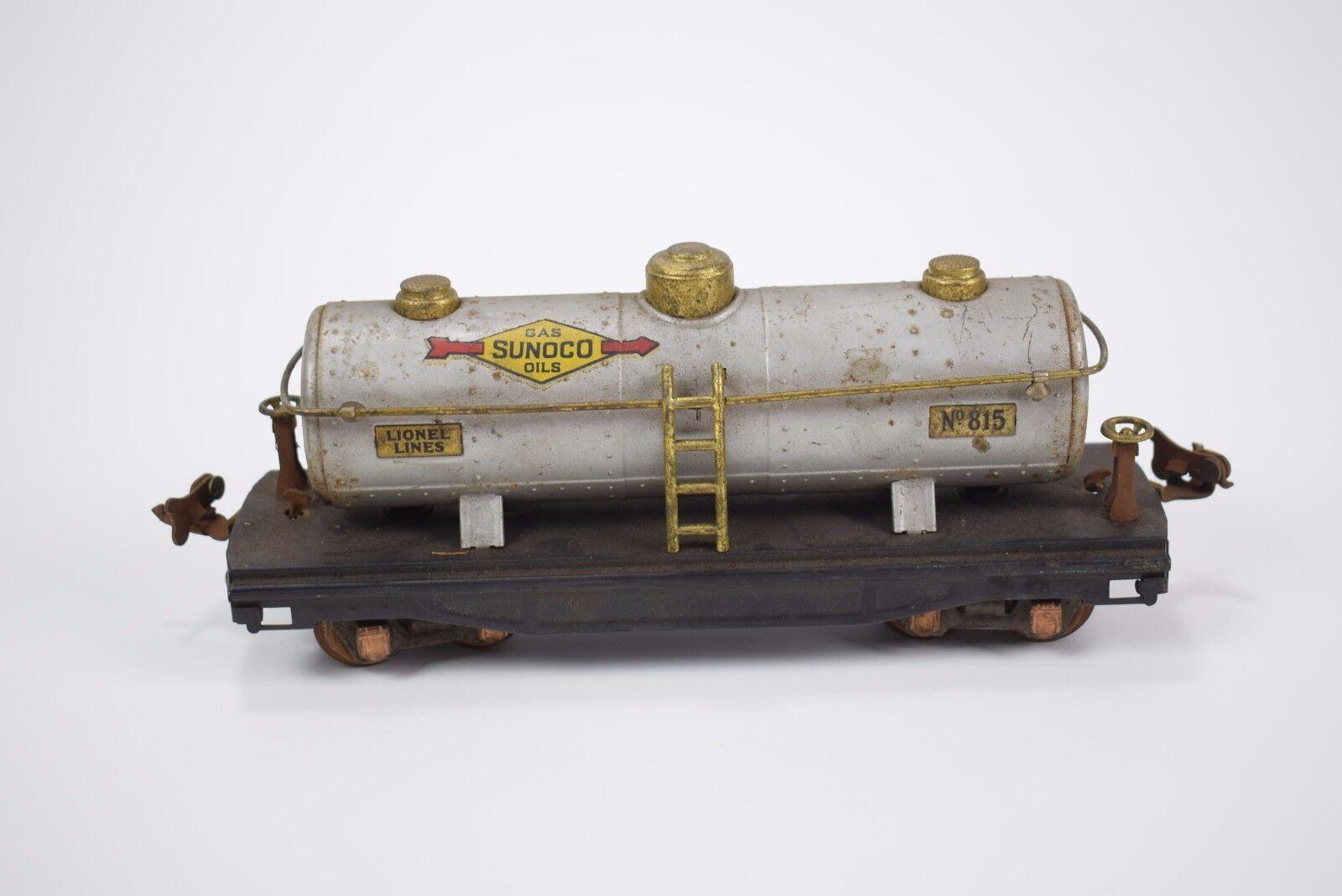 Vintage Lionel No 815 Sunoco Oils tanker car O gauge