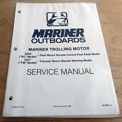 Mercury Thruster II Mariner 222 Electric Trolling Outboard