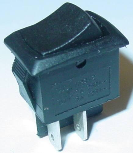 negros activado//desactivado 2-polos Mini wippenschalter balancín balancín 13,5x18mm 250v//3a s164