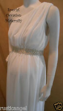 New Long Ivory Chiffon Dress One Shoulder Maternity Rhines XL Special Dresses **
