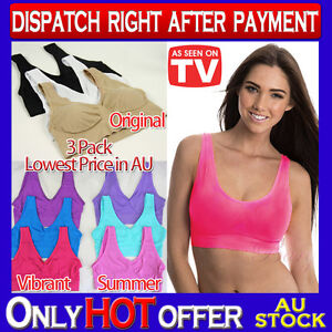 Set-of-3-Bra-Leisure-Shapewear-Seamless-S-M-L-XL-XXL-3XL-4XL-ahh-so-comfy-aah