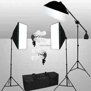 Photography-Soft-Box-Studio-Continuous-Video-Lighting-Boom-Light-Arm-Softbox-Kit