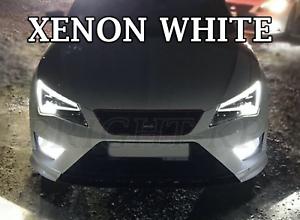 10x DELUXE SEAT LEON 5F MK3 2012-2018 WHITE INTERIOR LED XENON LIGHT BULB KIT UK
