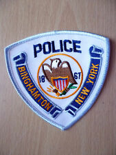 Patches: BINGHAMTON NEW YORK 1867 POLICE PATCH (New, approx.4x4 inch)