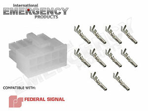 Details about 10 Pin Connector Plug for Federal Signal PA300R Smart on