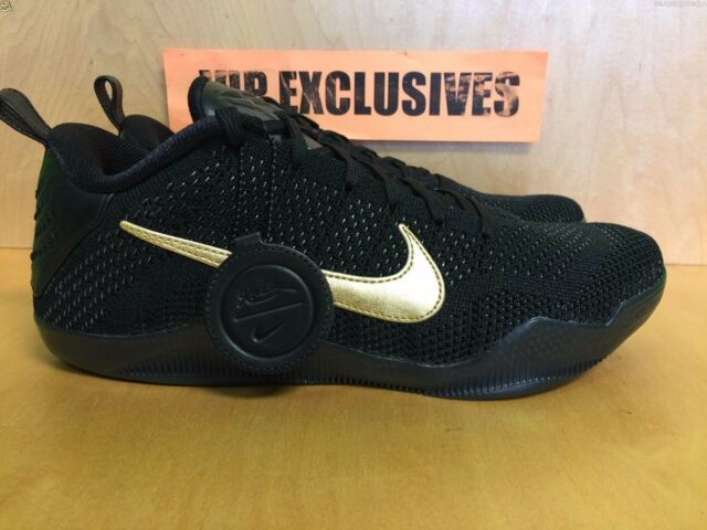 buy popular e828b 6b2d5 Nike Kobe XI 11 Elite Low FTB Fade To Black 4.13.16 Gold Black Mamba