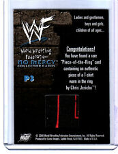 WWE Chris Jericho Comic Images No Mercy 2000 P3 Event Used Shirt Card G 2 Color