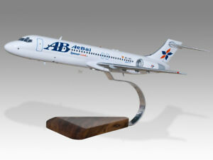 Airlines Collectables Boeing 717 Impulse Airlines Solid Dried Mahogany Wood Handmade Desktop Model