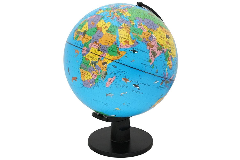 Kids Globe with Lighting Light Globus Table Globe World Map Erdball Ø