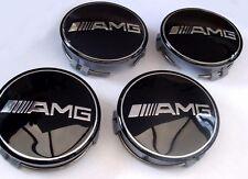 4x 75mm Mercedes Benz wheel caps AMG SET Emblem Logo For C E S SL SLK CLS ML