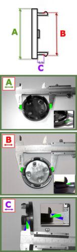 Original Brock buje tapa 55 mm 60 mm negro z06m embellecedores tapa llantas z06l
