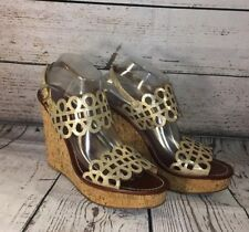 fd4d3bbc7 item 3 Tory Burch Daisy Wedge Sandals Gold Patent Leather Nori Laser Cut  Shoes Sz 10.5 -Tory Burch Daisy Wedge Sandals Gold Patent Leather Nori Laser  Cut ...
