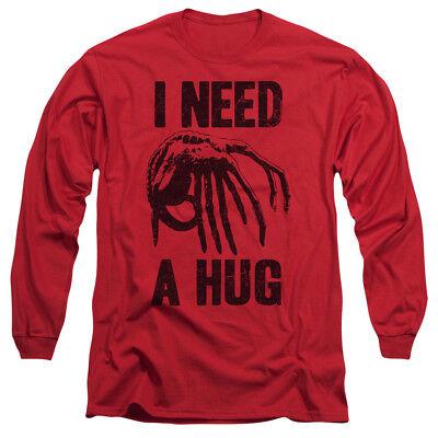 Alien Movie NEED A HUG Licensed Adult Long Sleeve T-Shirt S-3XL